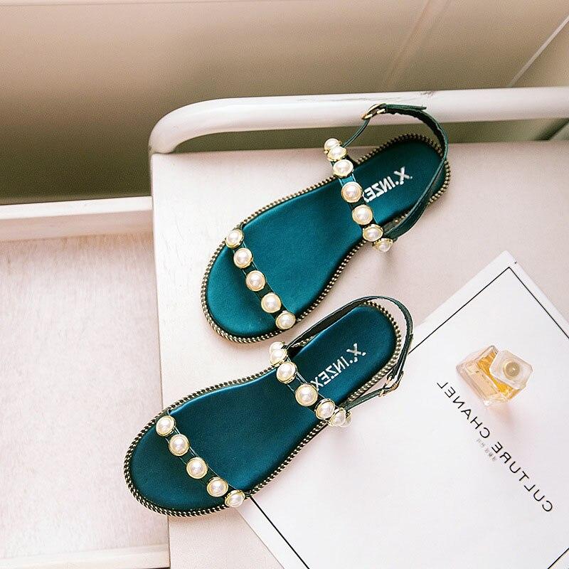 Angemessen Daokfpo 2017 Sommer Strand Fisch Mund Schuhe Perle Sandalen Nicht-slip Römischen Flache Frauen Flip-flops Casual Hausschuhe Mode Nvb-29