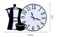 Современный творческий мебели дома Гостиная настенные часы черный, белый цвет часы настенные молоко магазин стены кулон Mute Часы