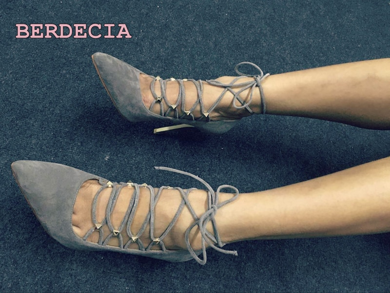 New year spring summer cross strap lace up pointed toe pumps high quality suede stiletto heels shallow cut high heel shoes photo new 2017 spring summer women shoes pointed toe high quality brand fashion womens flats ladies plus size 41 sweet flock t179