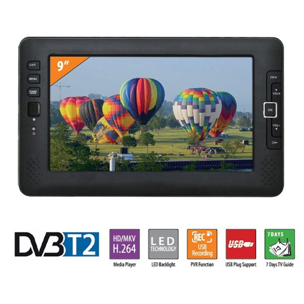 Monitor de Entrada Liedao Polegada Portátil Carro tv Televisão Dvb-t2 Sistema Digital hd Canal Receptor av Pvr Programa Gravação 9