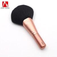 Professional Makeup Rose Pink Metal Handle Synthetic Fiber 140SES Full Shaped Large Powder Fan Brushes