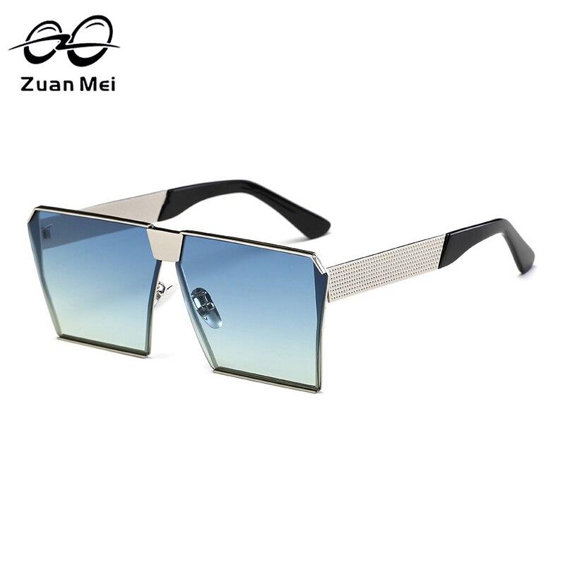 Zuan Mei Brand Design Alloy Frame Sunglasses for Men Women font b Polarized b font Square