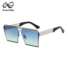 Zuan Mei Brand Design Alloy Frame Sunglasses for Men Women Polarized Square Mirror Sun Glass UV400 Fashion Leisure ZM0019-2