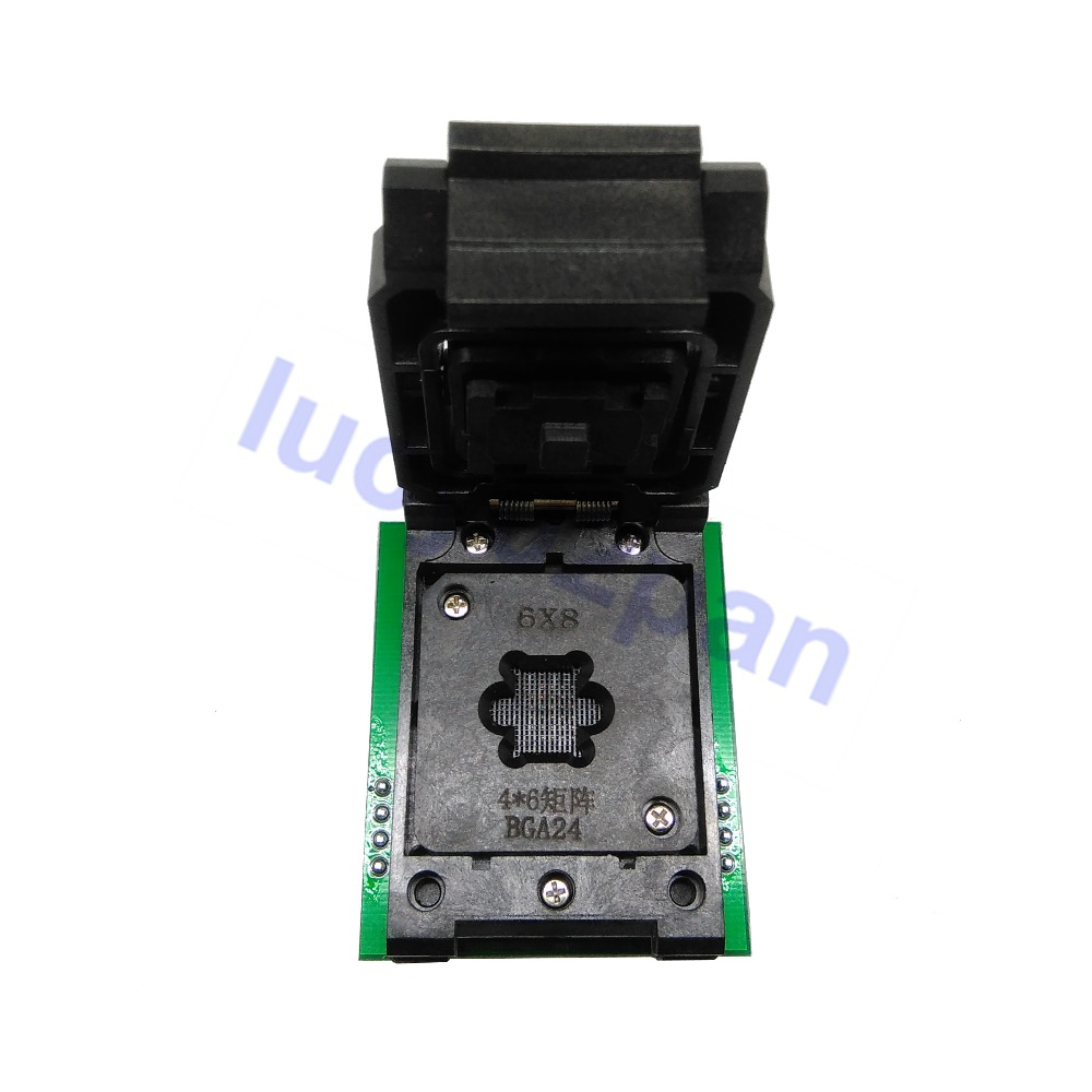 BGA24-DIP8 IC Adapter,BGA24 To DIP8 Socket Adaptor+2pc Chip Frame IC Size 4*6mm 5*5mm,for CH341 RT809F Programmer/Android TV BOX