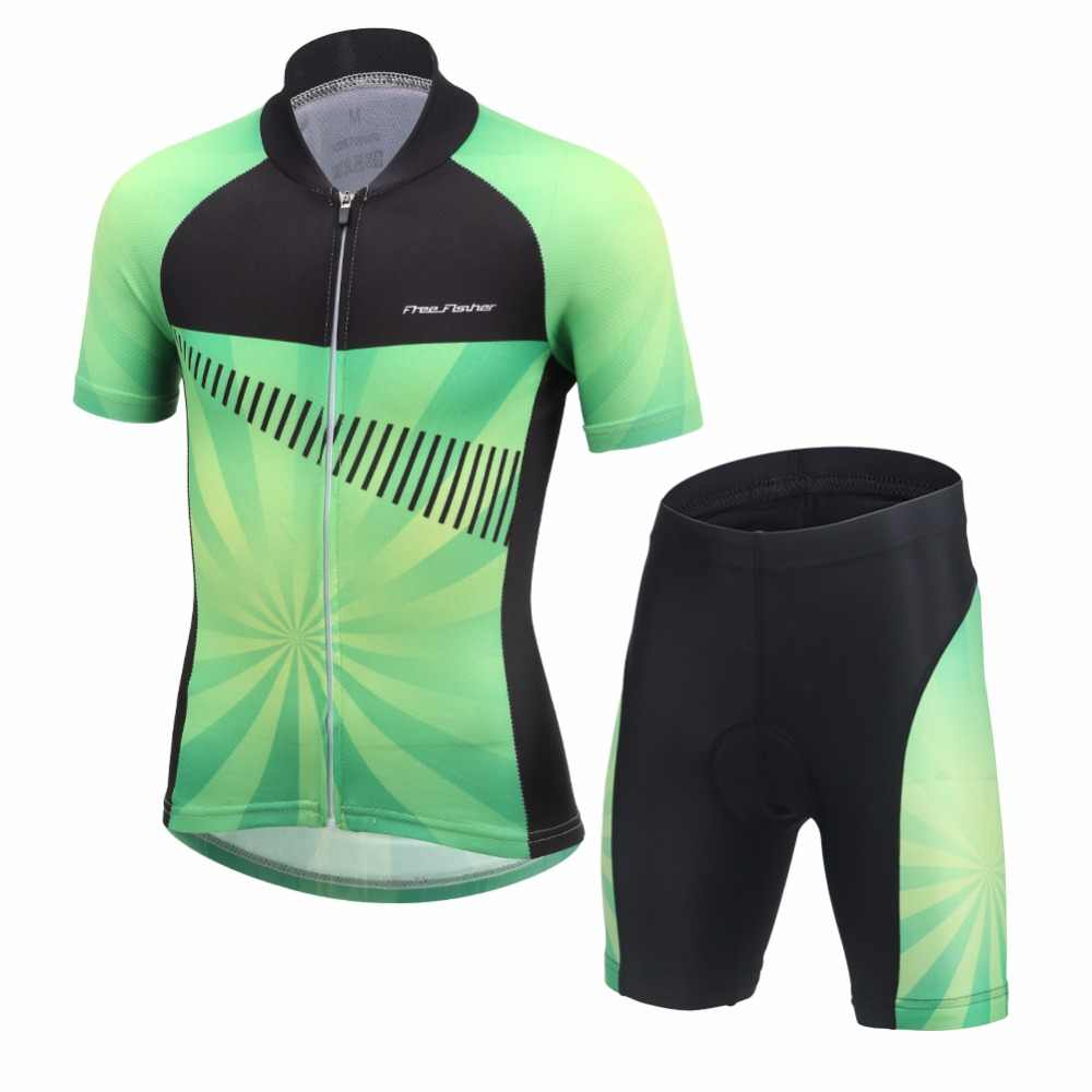 Kids Bike Jersey Shorts Sets Girls Children Cycling Clothing Team Bicycle  ciclismo Boys MTB Shirts Bottom af63624c8