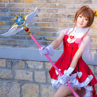 44.8 Length Cardcaptor Sakura Clear Card Kinomoto Sakura Cosplay Star Dream Stick Magic Wand Halloween Party Cosplay Props New