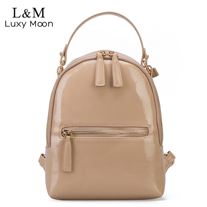 Luxy moon Lady Patent Leather Backpacks Women 2018 New Rucksack Shoulder Bags For Teenage Girls Candy Color School Bag XA394H luxy moon women mini backpack school bags pu leather bag female silver backpacks teenage girls shoulder bags new mochila xa1205h