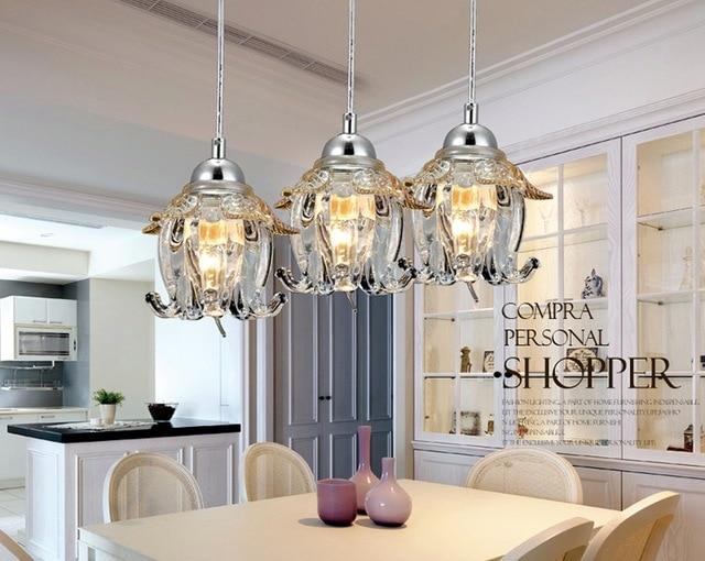 US $35.72 |Neu Moderne Kristall lampe Hängenden Draht Pendelleuchten LED  Glasschirmen Lichter Restaurants Schlafzimmer Flur Lampe Direct Selling in  ...