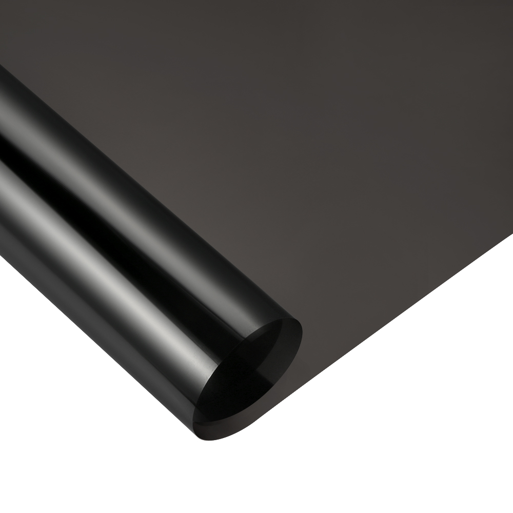 VLT 36% 50x400cm Black Car Window Tint Film Glass Automobiles Car House Commercial Auto Solar Protection Side window Tint film the window office paper sticker pervious to light do not transparent bathroom window shading white frosted glass tint