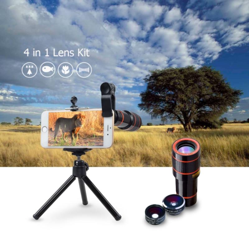APEXEL 6IN1 telefon kamera lens 12X Telescope telefonoto Zoom + - Cib telefonu aksesuarları və hissələri - Fotoqrafiya 3