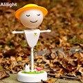 Flexível Torção O Espantalho Night Light USB Recarregável LED Lâmpada De Cabeceira Noite Crianças Sensor de Vibração Luminarias Iluminação