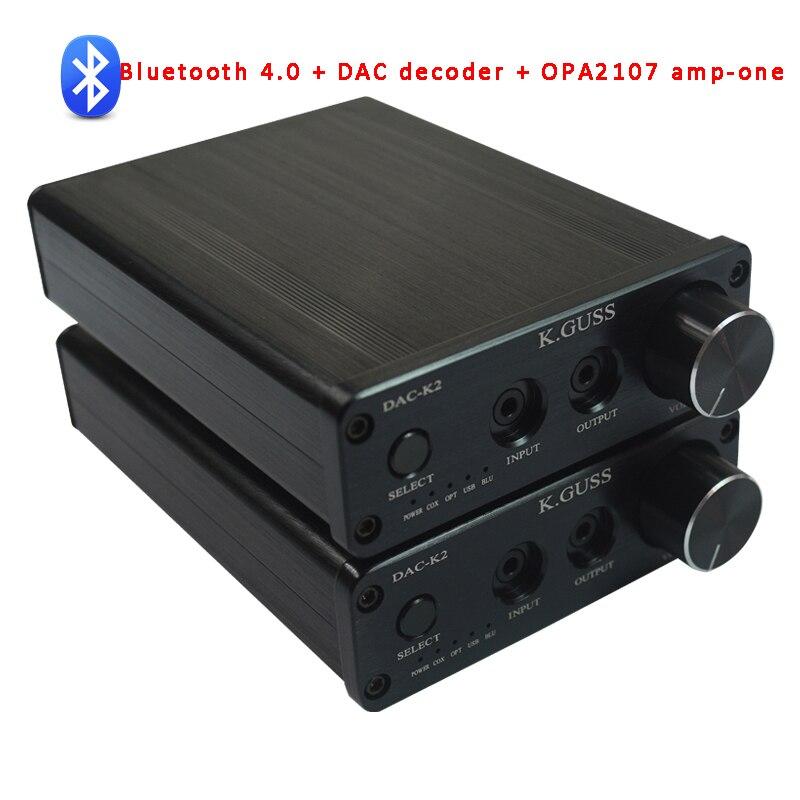 ФОТО K.GuSS DAC-K2 USB DAC Bluetooth 4.0 Audio Decoder Headphone Amplifier AIO fiber / coax / USB /Bluetooth / analog audio input