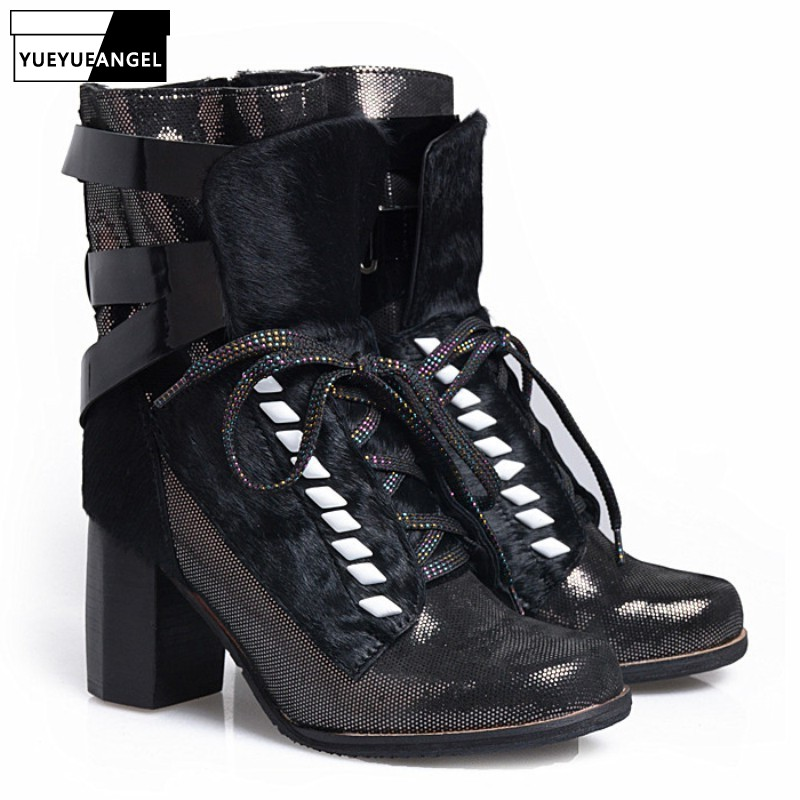 Runway Party High Heel Women Ankle Boots 2019 New Design Rivet Womens Shoes Cross-Tied  Boots Female Fashion Shoes WomanRunway Party High Heel Women Ankle Boots 2019 New Design Rivet Womens Shoes Cross-Tied  Boots Female Fashion Shoes Woman