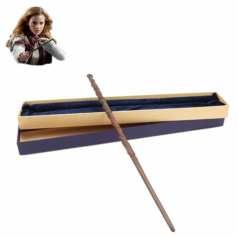 Harri Magic Wand Cosplay Trick Original Version Quality Metal Core Hermione Granger Magical Stick Gift Box Pack Kid Gift