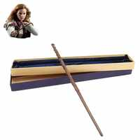 Harri Zauberstab Cosplay Trick Original Version Qualität Metall Core Hermine Granger Magische Stick Geschenk Box Pack Kid Geschenk