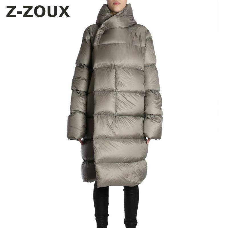 Z-ZOUX Womens   Down   Jacket Women Hooded Long Sleeve Duck   Down   Jacket Women Long   Down     Coat   Thick Winter Jackets Black Oversize New