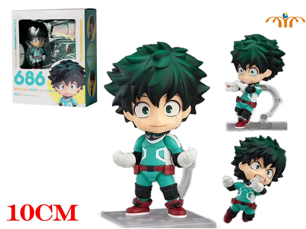 OHCOMICS Hot Anime My Hero Academia Boku no Hero Academia PVC 10CM Midoriya Izuku Figure Doll Toy Costume Decor Ornament Gift