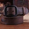 Коровьей Натуральной Кожи Ремни мужчин бренд Ремень мужской пряжкой фантазии старинные джинсы ремень мужской cintos masculinos ceinture homme 5
