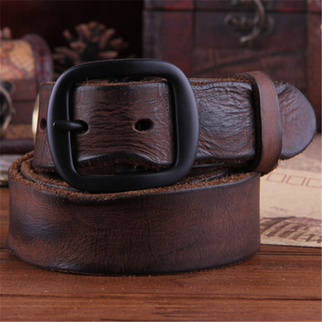 Cowhide Genuine Leather Belts men brand Strap male pin buckle fancy vintage  jeans strap male cintos masculinos ceinture homme 5