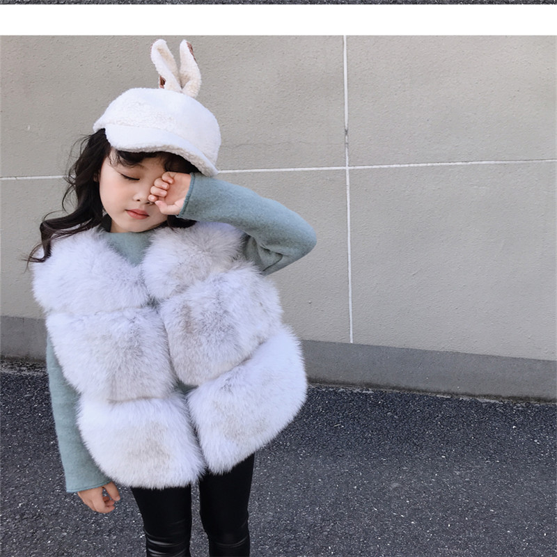 2019 new fashion fur one girl big children fox fur horse clip kids childrens fur vest jacket2019 new fashion fur one girl big children fox fur horse clip kids childrens fur vest jacket