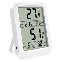 цена на LCD Digital Thermo-hygrometer Indoor Thermometer Hygrometer Detector Large-screen Temperature Humidity Meter Gauge