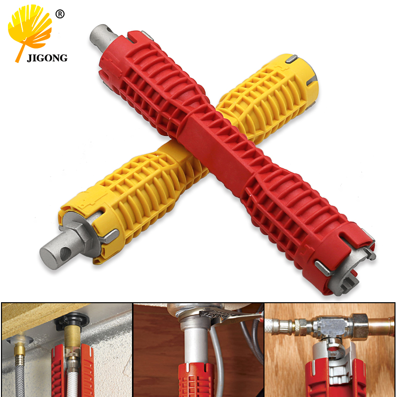 7/8 Inch Hex Nut Multifunction Household Bath Kitchen Sink Basin Faucet Wrench Sink Red Install Tap Spanner Installer Tools