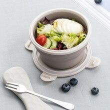 Tragbare Lunchbox Faltbare Bento Lunchbox Silikon Reise Mittagessen Box Picknicks Outdoor Lebensmittelbehälter