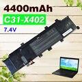 4400 mah 7.4 v batería del ordenador portátil c21-x202 para asus c31-x402 c21-x402 s300 s400 s400c s400ca s400e x402 x402c x402ca
