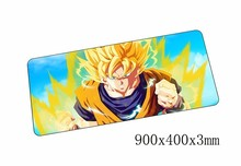 Dragon Ball Z mouse pad anime pad to mouse notbook computer mousepad lockand gaming padmouse  to 90x40cm  keyboard mouse mats