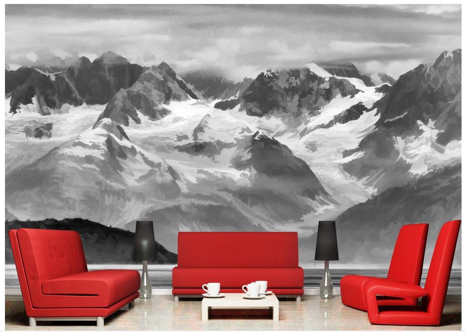 3D обои для стен 3 d пользовательский 3d фрески обои черно-белые чернила пейзаж живопись гостиной настенные декор