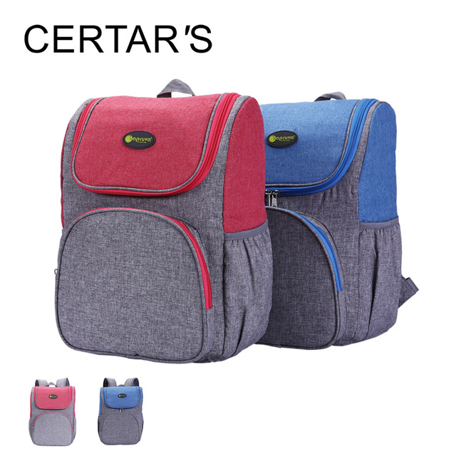 CERTAR'S Baby Diaper Bag Backpack for Stroller Large Capacity Bolsa Cotton Nappy Bag Maternity Backpack Nappy Changing Bags