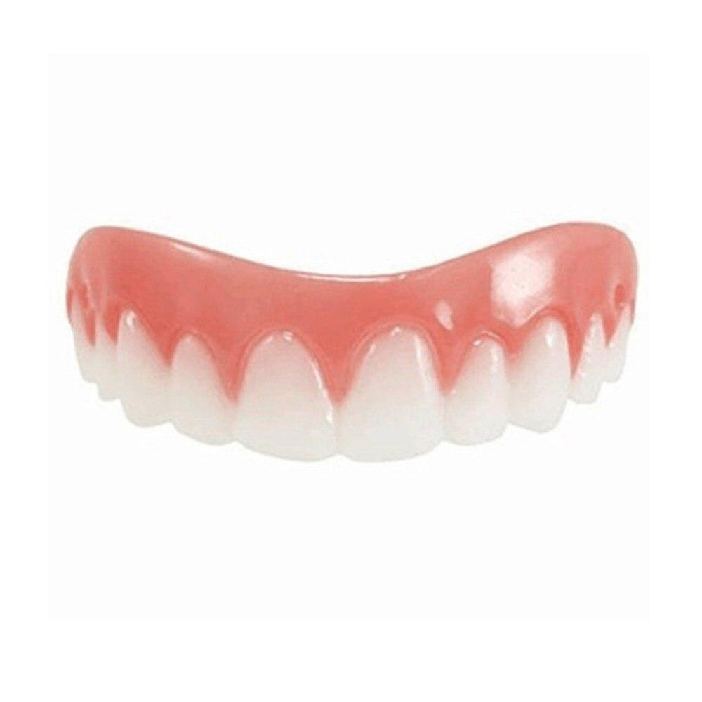 Comfortable Natural Silicone Perfect Smile Veneers Men Women Teeth Upper Cosmetic Veneer Tooth Cover Beauty Tool Teeth Whitening