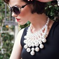 Pendant Necklace Multilayer Big Imitation Pearl Necklace Women Statement Necklaces & Pendants Collier Party Jewelry 6720