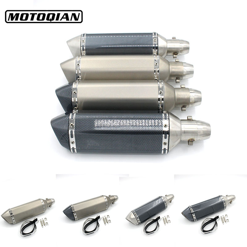 51mm Universal Moto Exhaust Pipe Muffler Bike Pot Escape For Ducati Monster 400 600 620 695 696 750 796 821 1100 Accessories