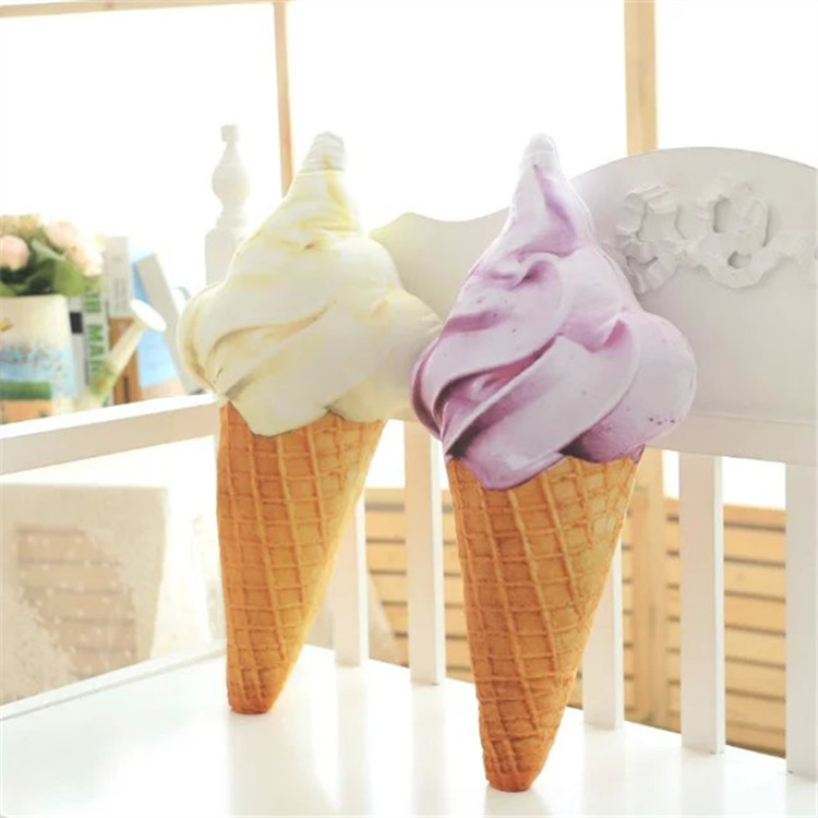Image 3 - Blue Yellow Red Purple Ice Cream Cone Plush Toy Pillow Sofa Cushion Decorative Cushions For Sofa Girls Children-in Cushion from Home & Garden