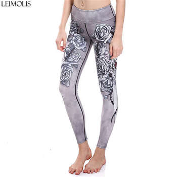 LEIMOLIS Witch Beast ocean octopus black gothic print Harajuku High Waist workout push up plus size fitness leggings women pants 6