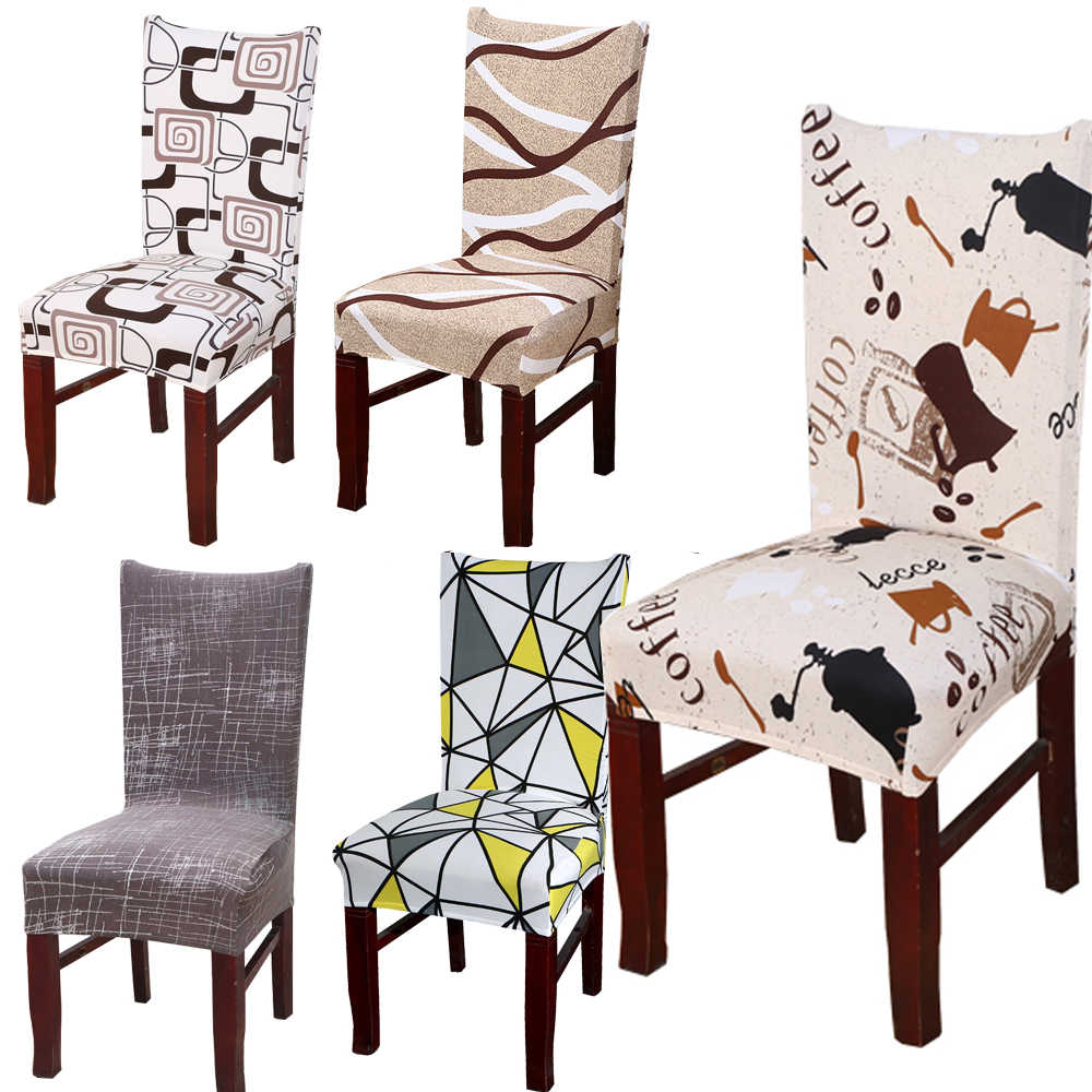 Round Chair Cover Floral Printed Elastic Seat Cover Chair Cushion Slipcover CA