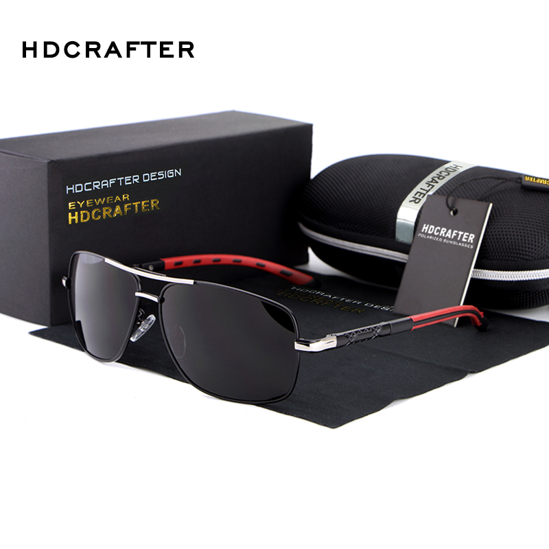 HDCRAFTER Polarized Sunglasses for Men Driving Google Brand Designer Sun Glasses Defending Coating gafas oculos de sol masculino
