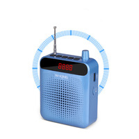 Portable Speaker 5W Amplifier Megaphone Booster With Wired Microphone Loudspeaker Mini Speaker For Teacher Guider Trainer