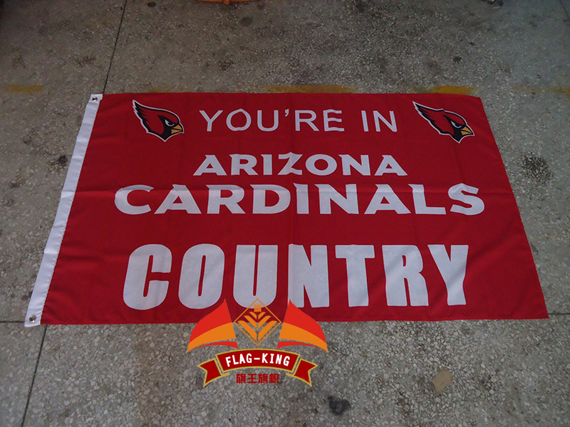 Arizona Cardinals with red background flag, football soccer club banner,90*150 CM polyster basterball flag