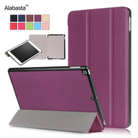 Case For New IPad 9 7 2017 Case PU Smart Cover Case Wake Up Sleep Alabasta