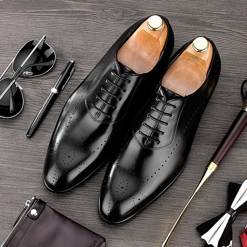 Sommer Britischen Stil Spitz Geschnitzt Mann Formelle kleidung Schuhe Aus Echtem Leder Oxfords männer Atmungsaktiv Brogue Schuhe NE42-in Formelle Schuhe aus Schuhe bei AliExpress - 11.11_Doppel-11Tag der Singles 1