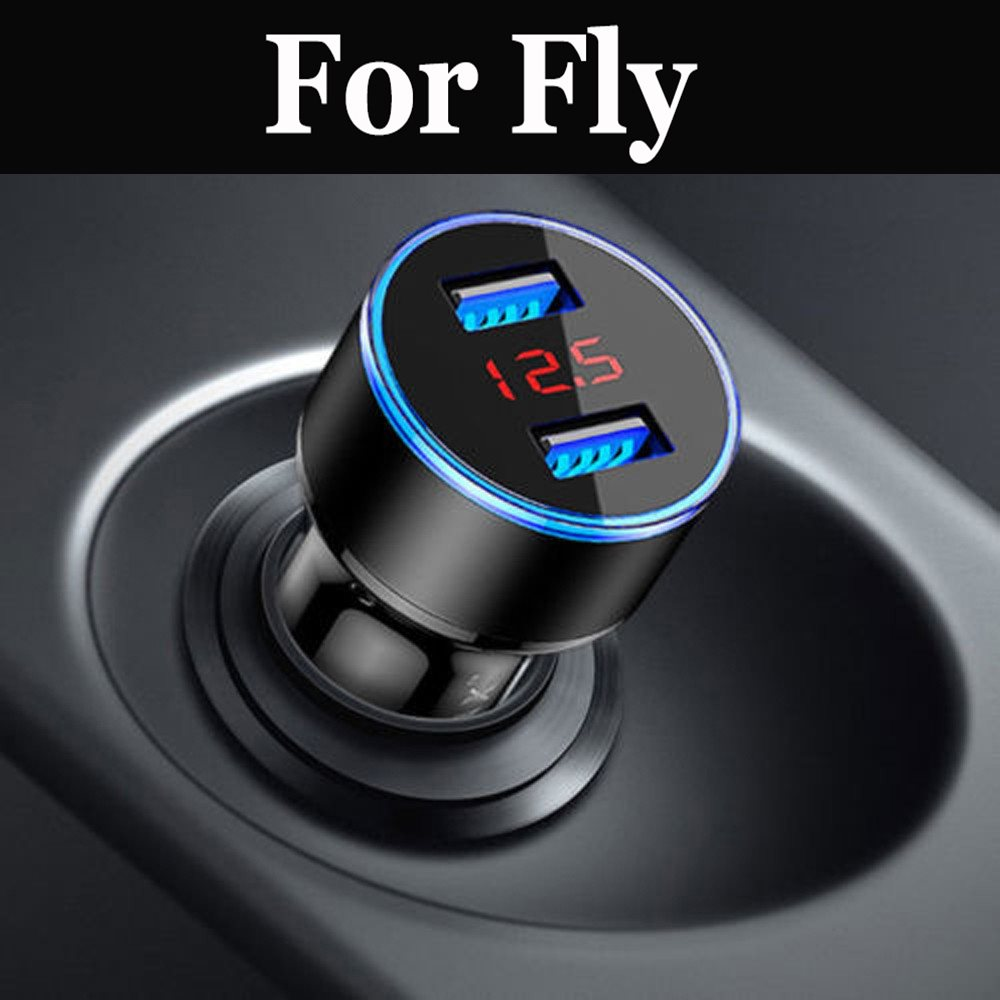 Car Charger For Mobile Phone Dual Usb Car Charger Fast Charging Adapter For Fly Nimbus 15 16 7 9 Photo Pro Power Plus 2 XXL