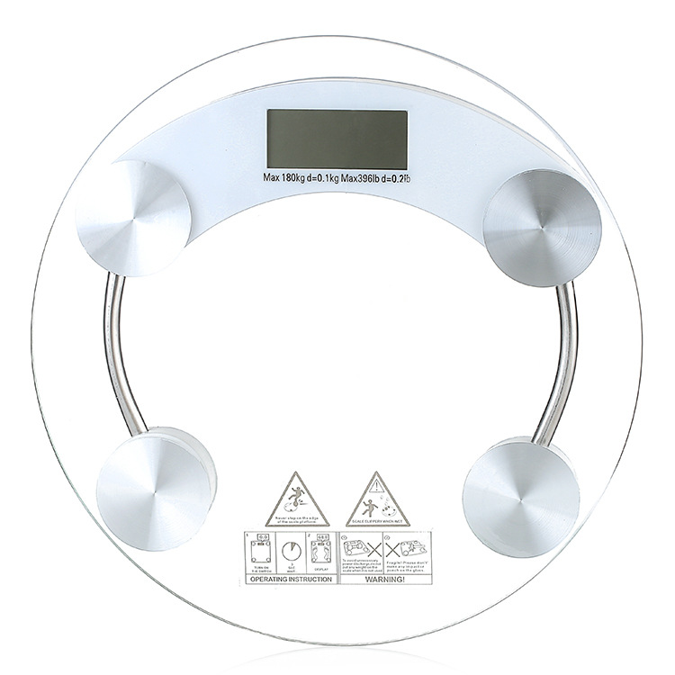 1pc lab teaching tool Body Scales Glass Smart Household Electronic Digital Floor Weight Balance Bariatric Display 150kg