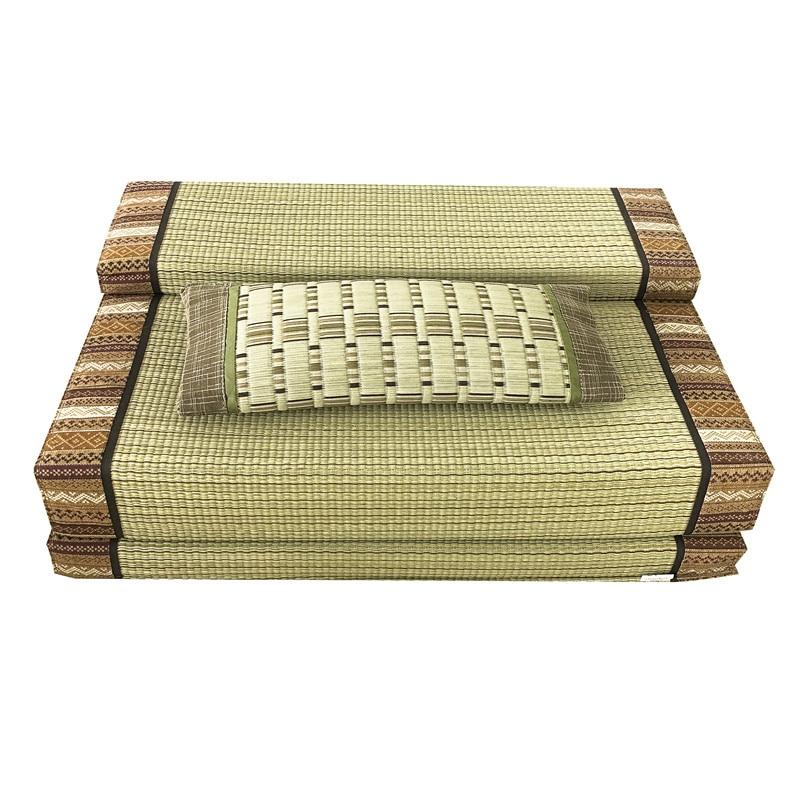 Tapis pliant en Tatami de paille Rectangle tapis de grande taille tapis Judo japonais Futon Tatami tapis pliable en paille pour dormir - 3