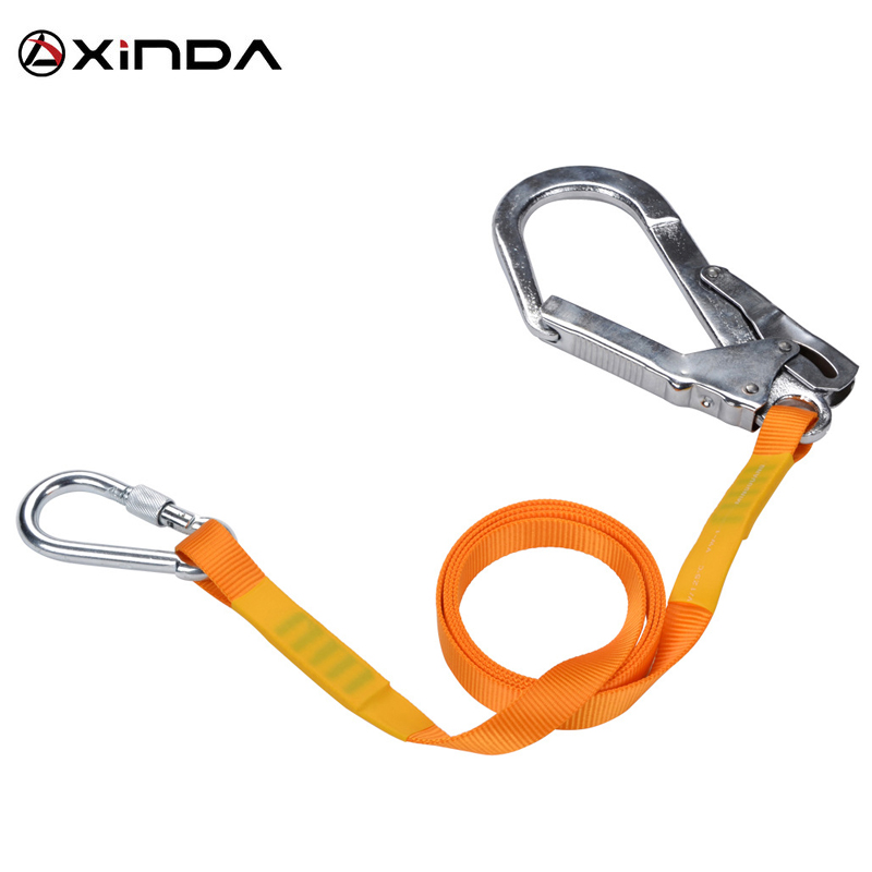 Rock Tree Climbing Lanyard Retractable Safety Professional Outdoor Rope Carabiner Tool