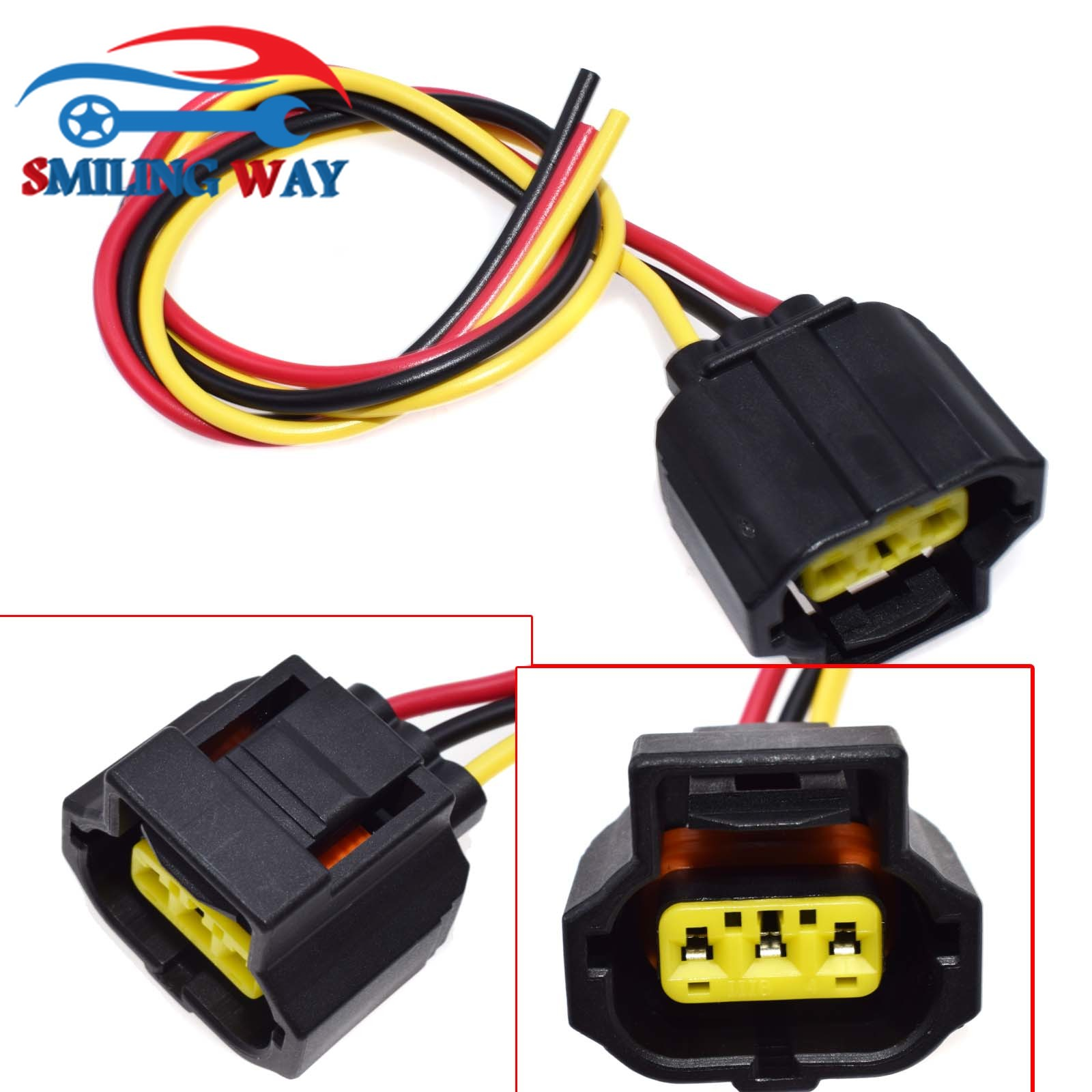 smiling way 3 pins sensor alternator connector wire harness wiring ford wiring pigtails pictures 2017 escape ford wiring pigtail [ 1600 x 1600 Pixel ]