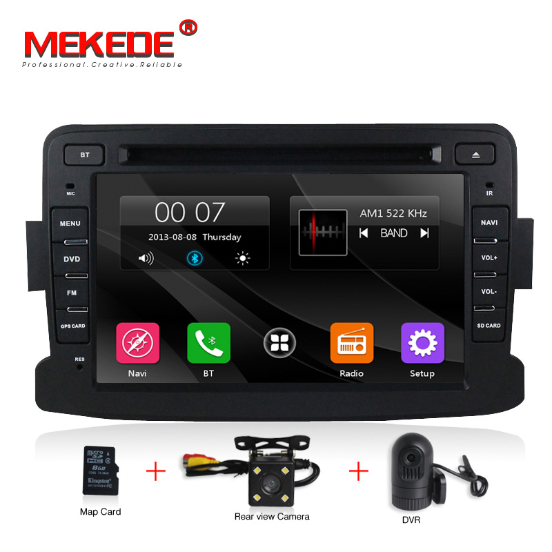 Écran capacitif GPS Navigator Radio Pour Dacia Renault Duster Logan Sandero Voiture DVD Centrale Cassette Lecteur livraison gratuite