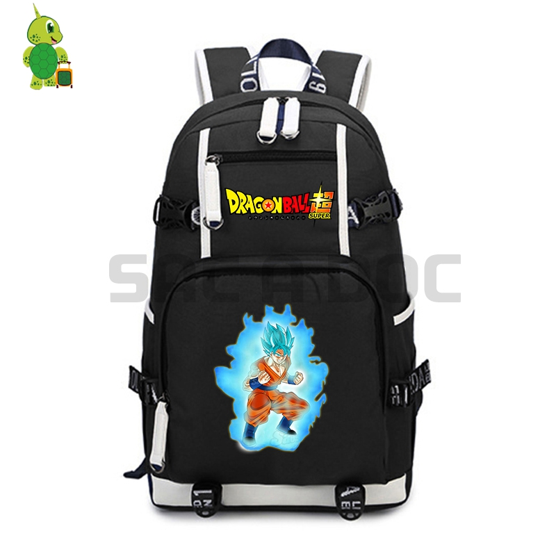 Dragon Ball Super Backpack Super Saiyan Goku Power School Bags For Teenage Girls Boys Laptop Backpack Large Travel Shoulder Bags