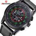 LONGBO Marca 2016 Hombres de La Moda del Reloj analógico Militar Deportes Reloj de Pulsera de Lujo Caliente de Cuero del Negocio Hombres Reloj Relogio masculino